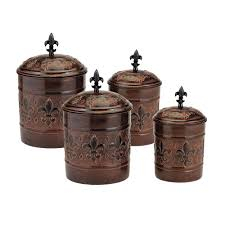 old dutch versailles canister with fresh seal covers 4 piece 730