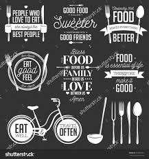 set of vintage food related typographic quotes vector set of vintage food related typographic quotes vector illustration kitchen printable design elements