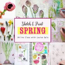 nature art sketchbook classes bundle louise gale mixed media
