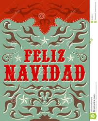 feliz navidad vrolijke kerstmis spaanse tekst stock foto