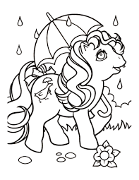 pony with umbrella coloring page free printable coloring pages