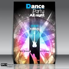 dance party poster template vector free download