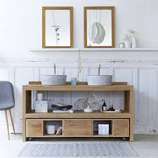 Ikea Meuble Double Vasque by Cuisine Meuble Salle De Bain En Bois Double Vasque Search Results