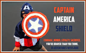 adventures with jude captain america shield with printable star