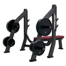 signature series olympic bench weight storage life fitness