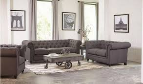Grey Linen Sofa by 550361 Coaster Roy Grey Linen Sofa Collection