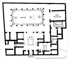 floor plan of villa publius fannius synistor pompeii excavated