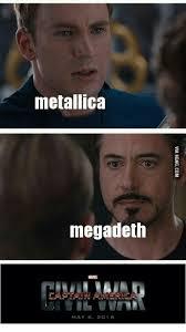 Metallica Meme - metallica megadeth mae 2016 mae meme on me me