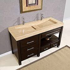48 Vanity Double Sink Integrated Stone Sinks Bathroom Vanities With A Stylish Twist