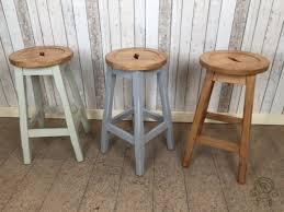 solid oak parlour stools kitchen bar stools