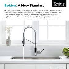 kraus commercial pre rinse chrome kitchen faucet kitchen faucets kraus commercial kitchen faucet single lever pre