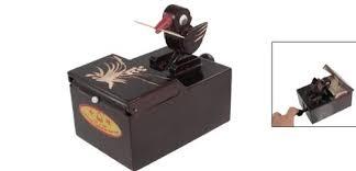 bird toothpick dispenser sourcingmap coffee wooden bird automatic toothpick holder