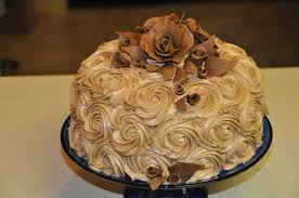 chocolate rosette cake with chocolate fondant roses cakecentral com