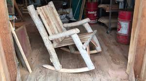How To Build A Simple Rocking Chair How To Make Your Own Log Rocking Chair Diy Woodworker Project