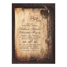 vintage invitations skeleton key vintage and wedding card zazzle