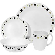 corelle livingware 16 dinnerware set geometric