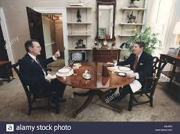 reagan oval office president reagan and vice president bush eating lunch in the oval