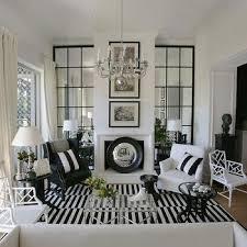 Black And White Floor Rug Black And White Striped Rug Transitional Living Room Nate