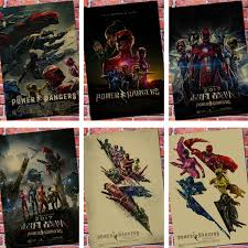 aliexpress buy power rangers vintage poster wall retro kraft