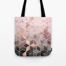 Brown Bags With Clear Window Abstract Tote Bags Society6
