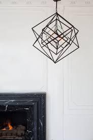 cubist small chandelier aged iron kelly wearstler chandeliers