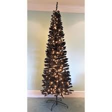 the pre lit 5ft black italian pencilimo tree