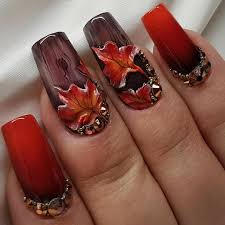 60 festive thanksgiving nails designs you should try 2017
