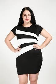 women u0027s short sleeve plus size casual dress black and white