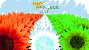 Indian Map Happy Republic Day 2017 Indian Map Flower