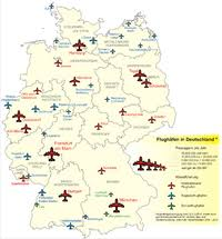 map of germany cities list of airports in germany