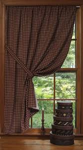 Cabin Style Curtains Prim Checked Curtains Make For A Great Window Treatment With