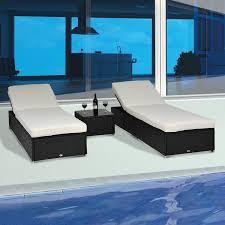 rattan lounge sofa modenzi 3 pcs outdoor rattan wicker chaise lounge sofa patio