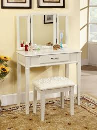 Bathroom Vanity With Makeup Table by White Vanity With Mirror And Stool Descargas Mundiales Com