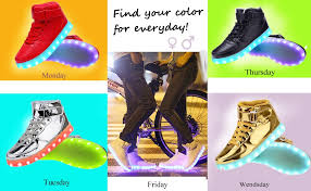 black friday 2017 amazon shoes amazon com odema women high top usb charging led shoes flashing