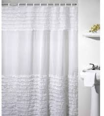 sheer fabric shower curtain open travel