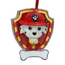 2 75 paw patrol marshall character ornament for