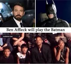 Ben Affleck Batman Meme - smith family s reaction to ben affleck as batman smile