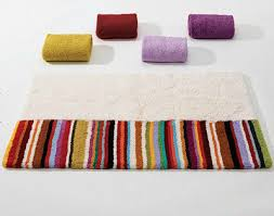 Colorful Bathroom Rugs Abyss Habidecor Arizona Bath Rugs Colorful Striped Bath Rugs