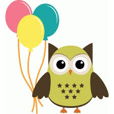 owl balloons silhouette design store view design 40036 party owl with balloons