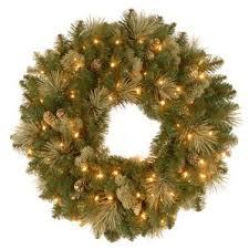 prelit wreaths joss