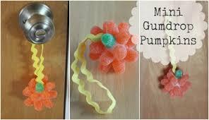 mini gumdrop pumpkin ornaments make and takes