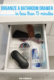 organize a bathroom drawer in less than 15 minutes clean mama