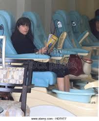 selma blair gets manicure pedicure stock photos u0026 selma blair gets