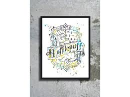 Harry Potter Decor by Watercolor Art Print Harry Potter Watercolor Hogwarts House