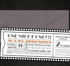 Movie Ticket Wedding Invitations Movie Credits Style Wedding Program