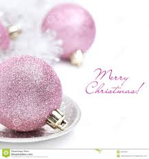 pink christmas pink christmas and tinsel up isolated stock image
