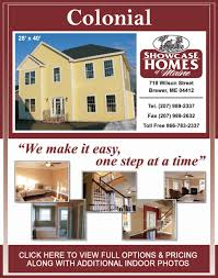 floor plan 8 colonial showcase homes of maine bangor me