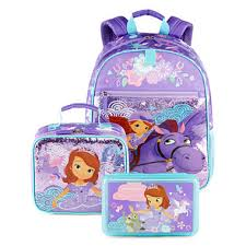 disney collection sofia backpack lunchbox pencil box