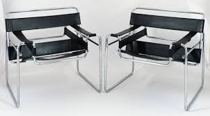 Vintage Designer Chairs Vintage Pair Of Leather And Chrome Wassily Chairs At 1stdibs