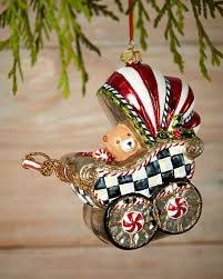 mackenzie childs baby s pram ornament